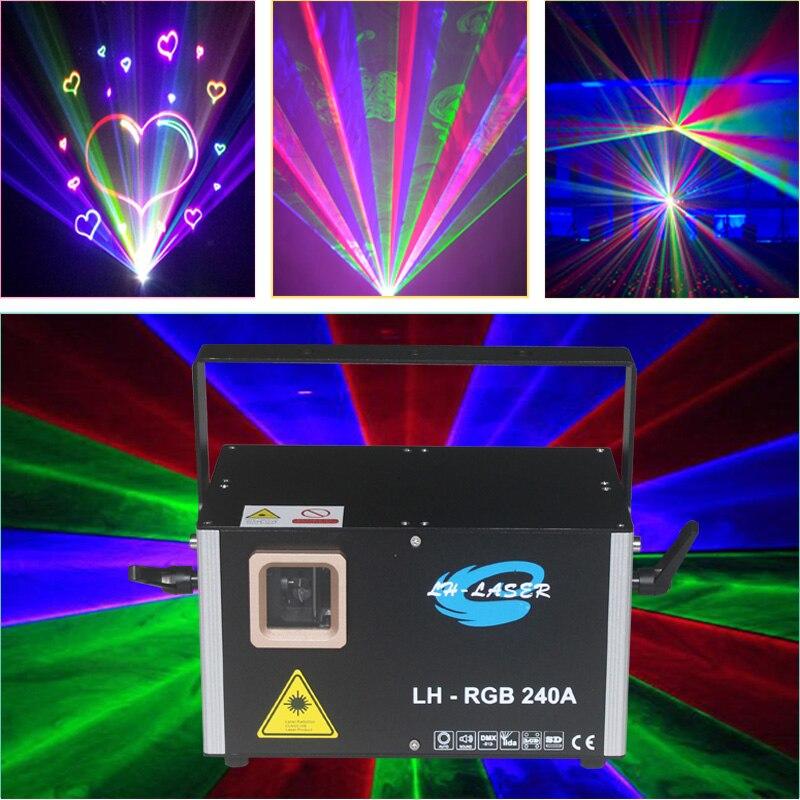 Livraison gratuite RJ45 Interface ILDA + DMX + carte SD son actif Modulation analogique polychrome rvb Laser disco projecteur d'éclairage
