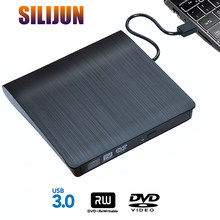Portable USB 3.0 DVD-ROM Optical Drive External Slim CD ROM Disk Reader Desktop PC Laptop Tablet Promotion DVD Player
