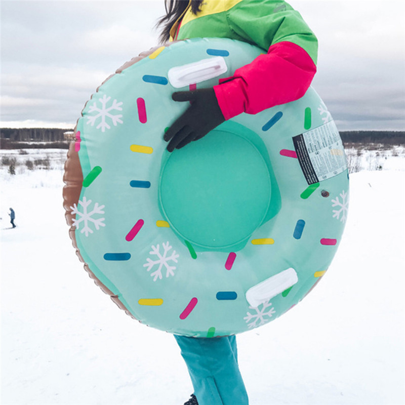 Skiing Pad Board Inflatable Durable Tire Snowboard Sleds Handle Design Suitable For Both Children And Adultn