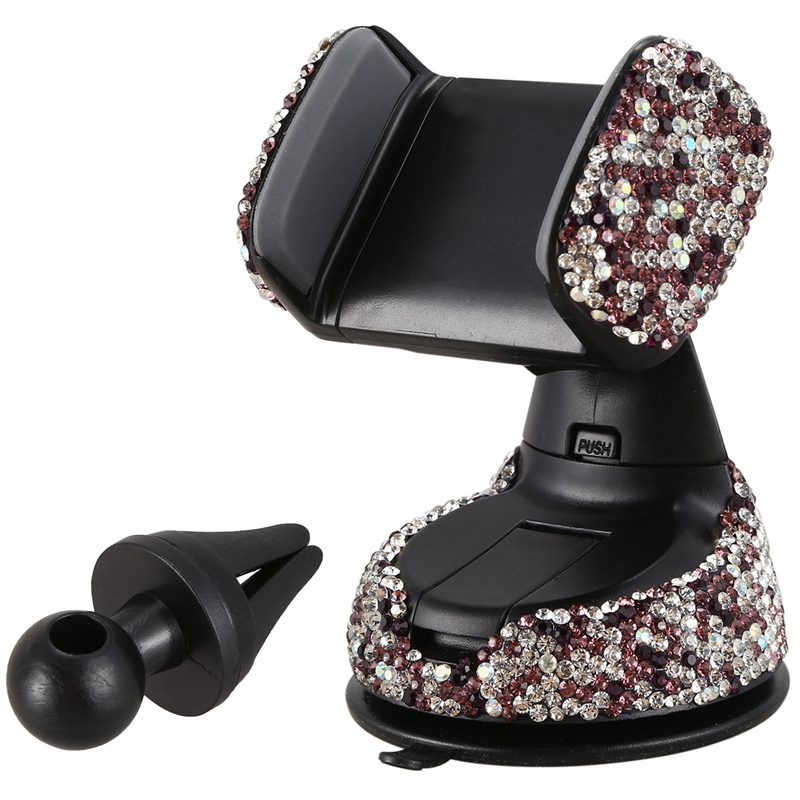 Rhinestone Universal Super Cute 360 Car Windshield Dashboard Mount Suction Adjustable Phone Holder for Easy View GPS Screen  for|GPS Stand| |  - title=