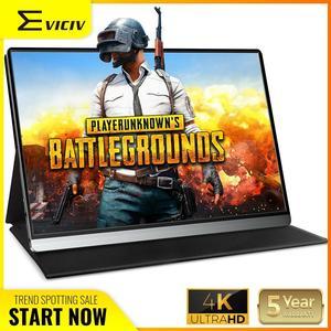 EVICIV PUBG jeu moniteur Portable 4K écran 15.6 pouces Xbox One X 60Hz 3ms FreeSync PS4 commutateur IPS écran LCD 1000:1 USB C HDMI