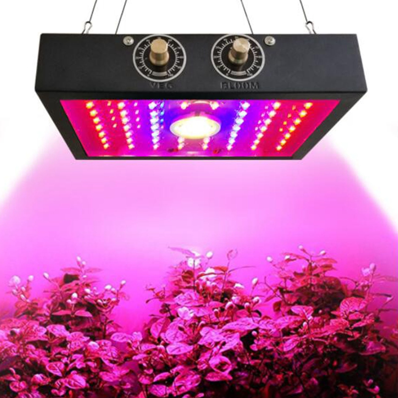 Two-Chip LED1200W Plant Growth Lamp Plant Cultivation Lamp Gardening Nursery Greenhouse Planting Etc. Adjustable Light Inten