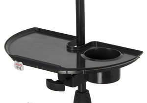 Image 5 - LEORY 1pc Black Frameworks Microphone Stand Accessory Tray With Drink Holder Toys Microphone Accessories