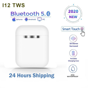 Inpods I12 TWS Earphones Wireless Ear Buds with 300mAh Charging Box Cute Earphone Bluetooth 5.0 1:1 Original PK I500 I900 I9000