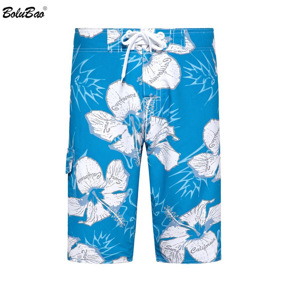 BOLUBAO Fashion Brand Men Pattern Board Shorts Men's Comfortable Wild Short New Male Straight Casual Board Shorts EU Size