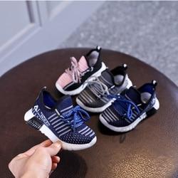 Wiosenne/jesienne dziecięce buty Unisex małe dziewczynki chłopięce trampki oddychające buty sportowe z siateczką modne dziecięce buty EU 21 30 w Trampki od Matka i dzieci na