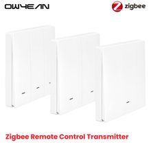 Tuya Zigbee3.0 Smart Remote Control Transmitter Button No Wiring Required Posted Anywhere Smart Life Alexa Google Home Assistant