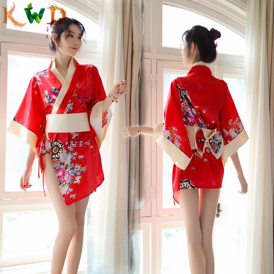 KWD Women Kimono Sexy Lingerie Japanese Uniform Sexy Nightwear Lingerie Hot Exotic Babydoll Dress Nightclub Performance Clothes