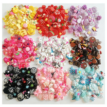 20pcs Resin Crafts Patches Accessories Cartoon Animal Fruit Flower Deaorations Hairbow Garment Bags Flatback DIY Supplies