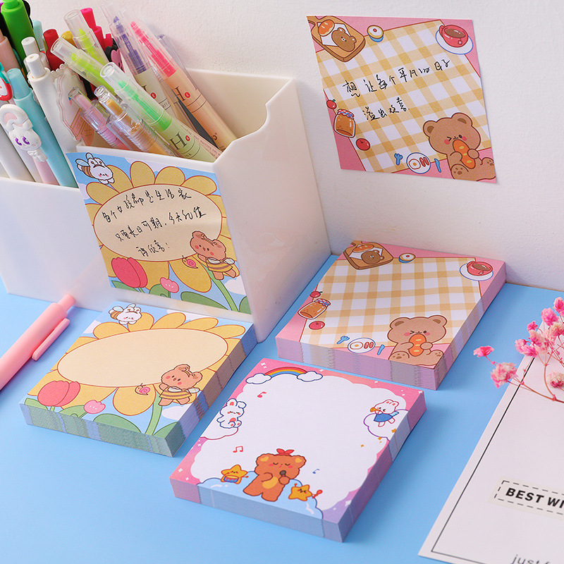 Kawaii Sunshine bear 80 Sheets Memo Pads Note Paper Message Cute Decorative Notepad Office Stationery School Supplies