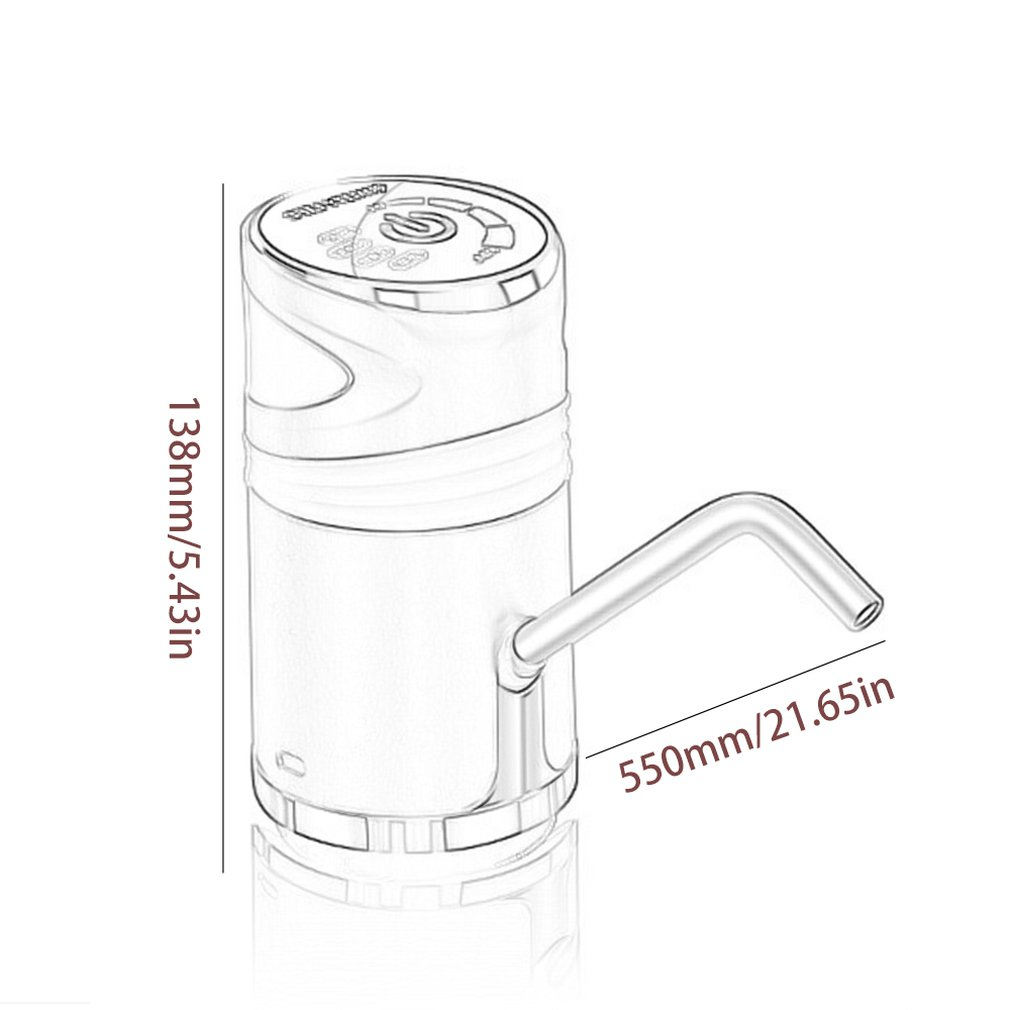 Купить с кэшбэком Barreled Water Dispenser Pump Electric Water Dispenser Ultra-Quiet Low Noise 1200Mah Food Grade Silicone Tube Drink Water