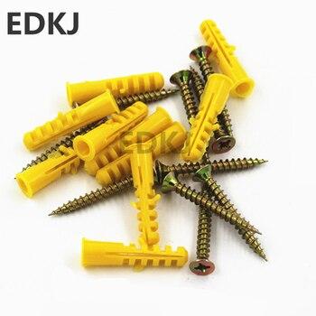 50 sztuk śruby 6/8/10mm gumowe rura rozprężna płaskie okrągłe głowy-śruba gwintująca rura nylonowa drewno ścienne sprzętu metalowa śruba zestaw