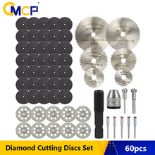 CMCP 60pcs Diamond Cutting Wheels Disc HSS Mini Circular Saw Blade Diamond Cutting Blade Metal Cutter for Rotary Tool Accessorie