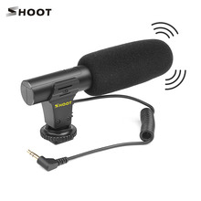 Bắn XT 451 Di Động Ngưng Tụ Stereo Microphone Mic Có Jack Cắm 3.5 Mm Gắn Kết Với Đế Cho Canon Sony Nikon Camera Quay Phim