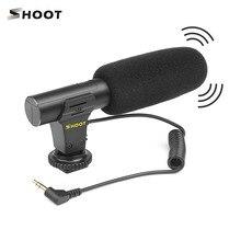 Shoot microfone estéreo portátil, microfone condensador portátil com conector de XT 451 mm para câmera canon sony nikon camcorder, 3.5