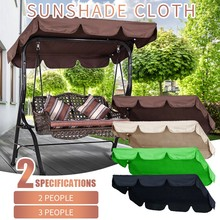 Outdoor Swing Ceiling Cover Sunshade Roof Cover Double Outdoor Garden Swing Cover Canopy Replacement Shade Cloth 142x120x18cm