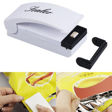 1PC Mini Instant Heat Sealer Mini Practical Household Food Plastic Packing Bag Hand Press Seal Machine Kitchen Accessories cheap JosheLive CN(Origin) Heat Seal Machine Eco-Friendly Stocked Bag Clips ABS plastic + metal 3 9*1 6*1 8in 10*4*4 5CM 3 5W