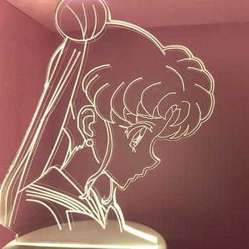 HY Anime Sailor Moon 3d Night Light Creative Bedroom Bedside LED Table Lamp Decoration Girls Sleep Color Changed Nightlight Gift night light bedroom bedside table desk cute lamp remote decoration dimming dream romantic warm sleep decoration creative gift
