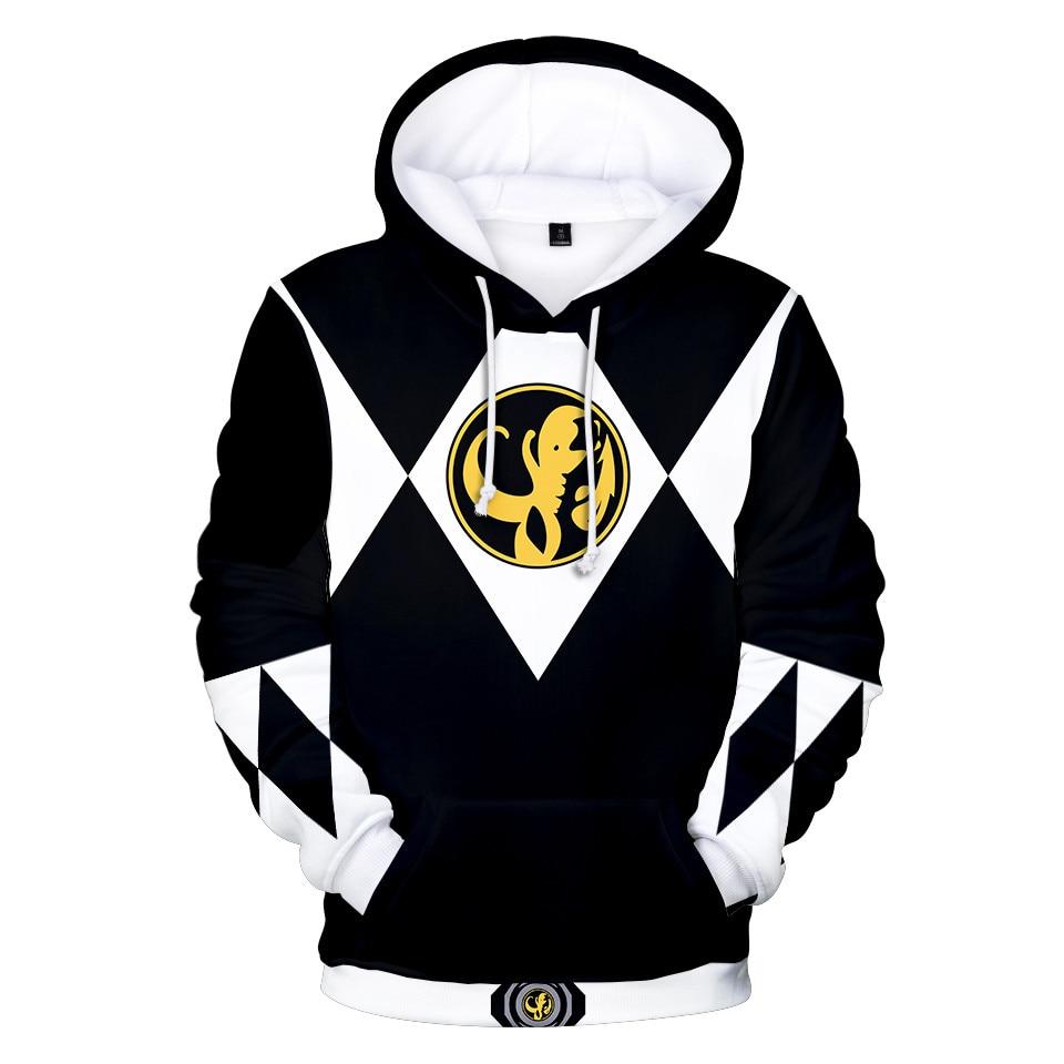 Power Rangers 3D Print Hoodies Long Sleeve Pullover Hoodie Streetwear Casual Sweatshirt Fashion Jacket Coat Anime Funny Clothes