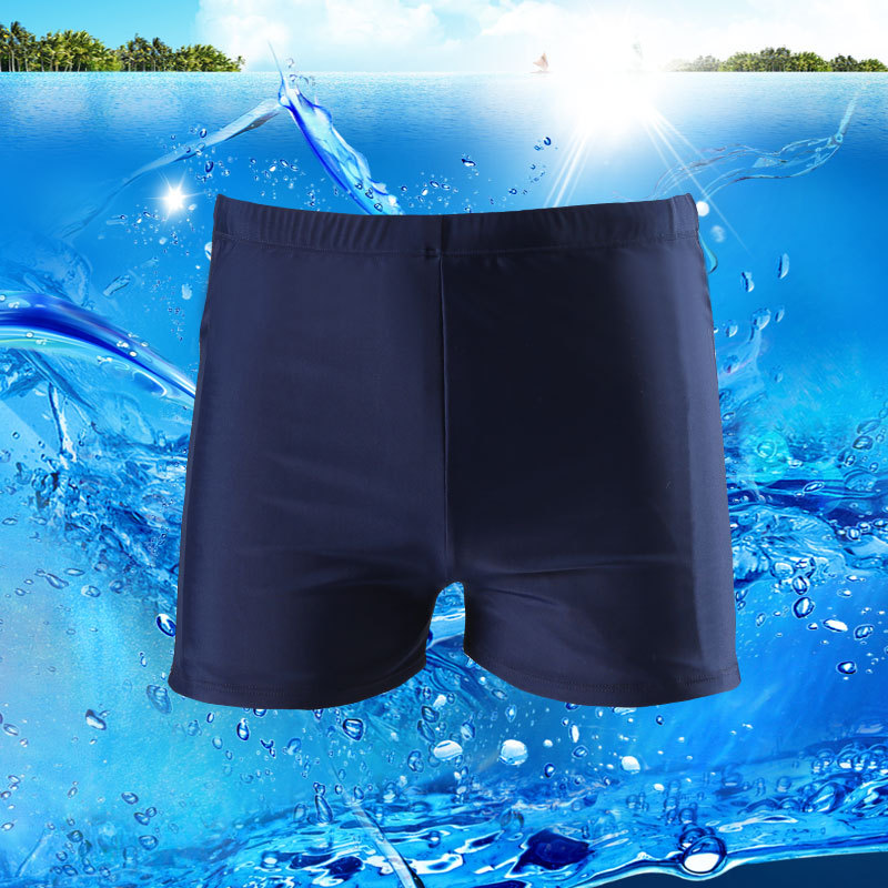New Style Men Boxer-Style Swimming Trunks Top Grade Large Size Quick-Dry Comfortable Beach Pool Profession Swimming Trunks