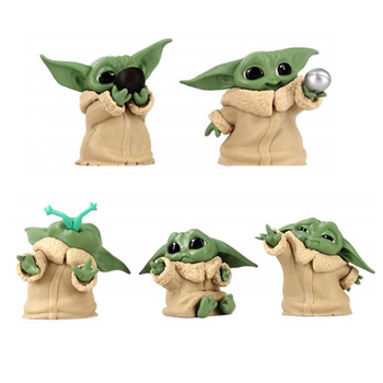 5 sztuk Star Wars Baby Yoda kolekcja figurka Hoy zabawki noworoczny prezent dla dzieci tanie i dobre opinie Disney Puppets CN (pochodzenie) Unisex small parts no for kids under 3 years 4-6cm Model Remastered version 8-11 lat 12-15 lat