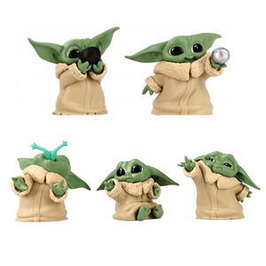 5pcs Star Wars Baby Yoda Collection Action Figure Hoy Toys New Year Gift for Children
