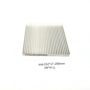 Radiator Aluminum Heatsink152*17-200mm Ultra-Thin Heat Sink Router LED IC Electronic Heat Dissipation Cooling Cooler