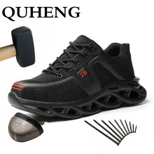 Work-Shoes Construction Toe-Protective Anti-Smashing Safety Steel Men's All-Season QUHENG