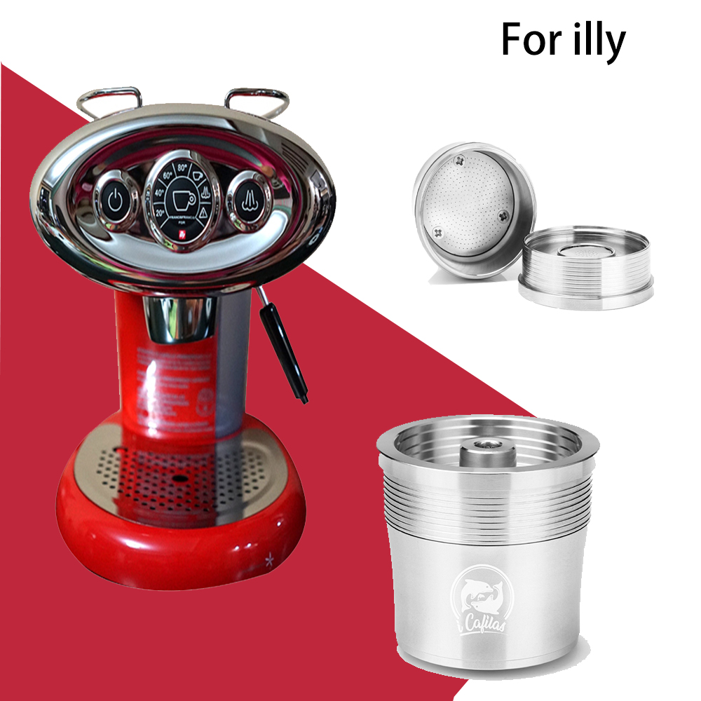 Reusable Coffee Capsule Pod Compatible with Illy Refillable Capsules Filter Stainless Steel Metal with Spoon Tamper(China)
