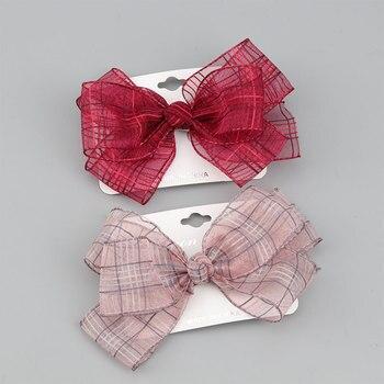 Hair clips for girls, sweet net yarn hair accessories children, Korean fashion girl headdresses, princess Hairpin