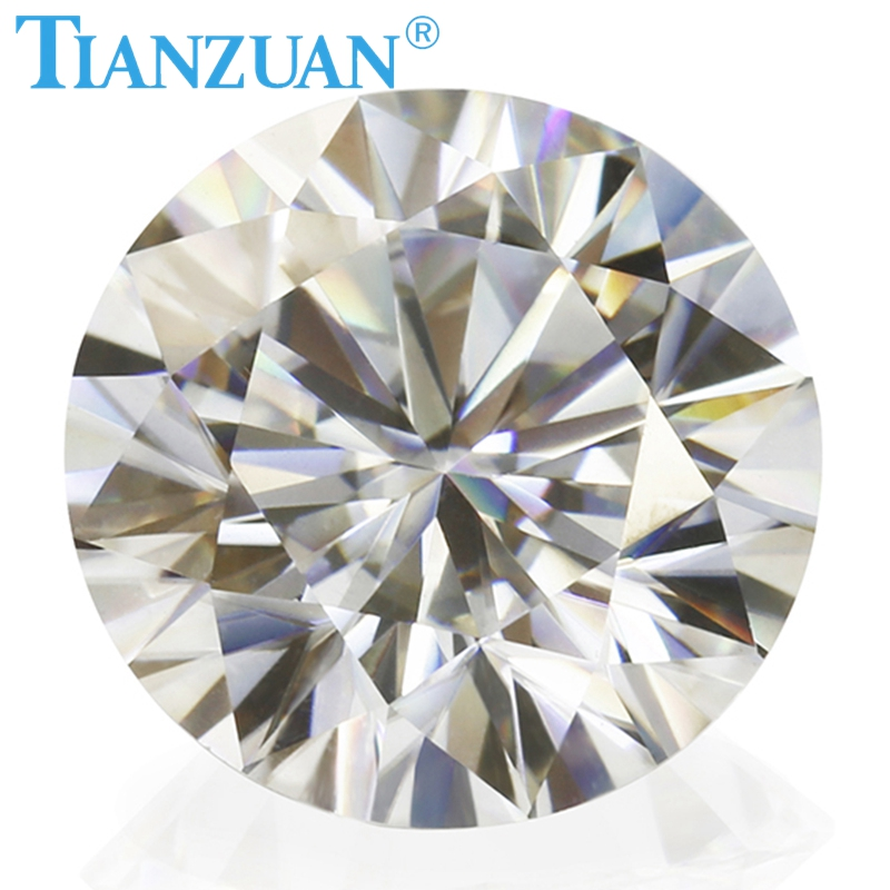 Image 2 - New  sales promotion 6.5mm GH color white Round Brilliant cut moissanites loose gems stoneLoose Diamonds & Gemstones   -