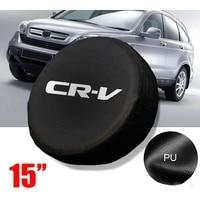 15 אינץ חילוף גלגל צמיג צמיג כיסוי מקרה רך תיק מגן עבור הונדה CRV CR V אביזרים לצמיגים רכבים ואופנועים -