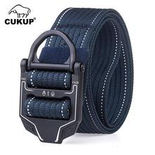 CUKUP 2019 New Arrival Quality Nylon Belt Outdoor Tactical Style Casual Multifunctional Training Belts for Men 3.8cm CBFJ0145