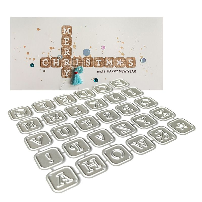 Alphabet Letters Metal Cutting Dies Stencil Scrapbooking DIY Album Stamp Paper GXMA