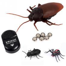 1 комплект инфракрасный пульт дистанционного управления насекомые игрушки имитация паука муравьи тараканы электрическая игрушка на радиоуправлении подарок на Хэллоуин для взрослых шалость подарок