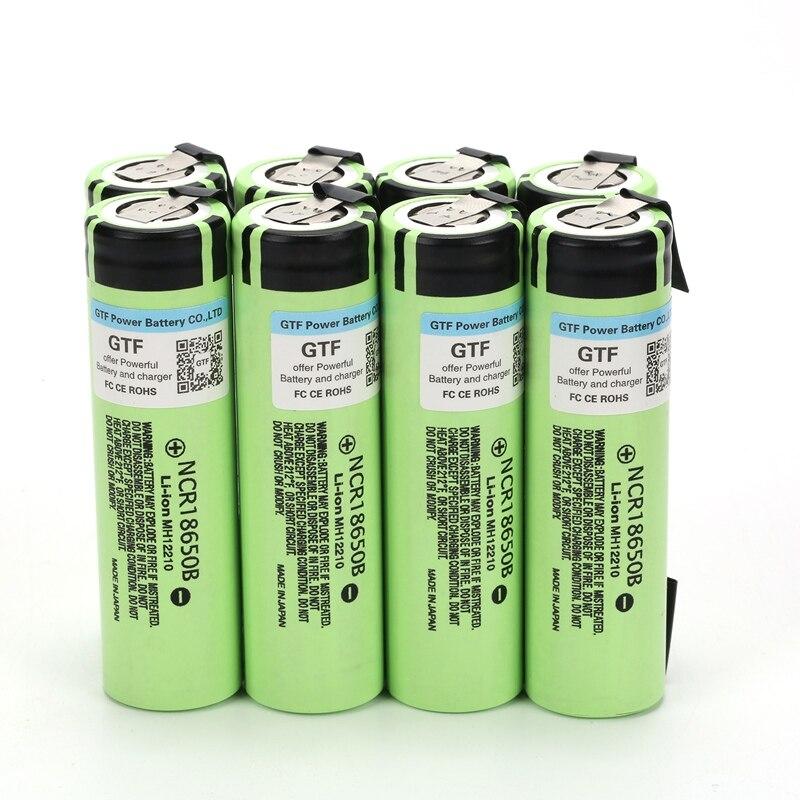Литий-ионный аккумулятор NCR18650B, 3400 мАч, 18650 в, 100% мАч