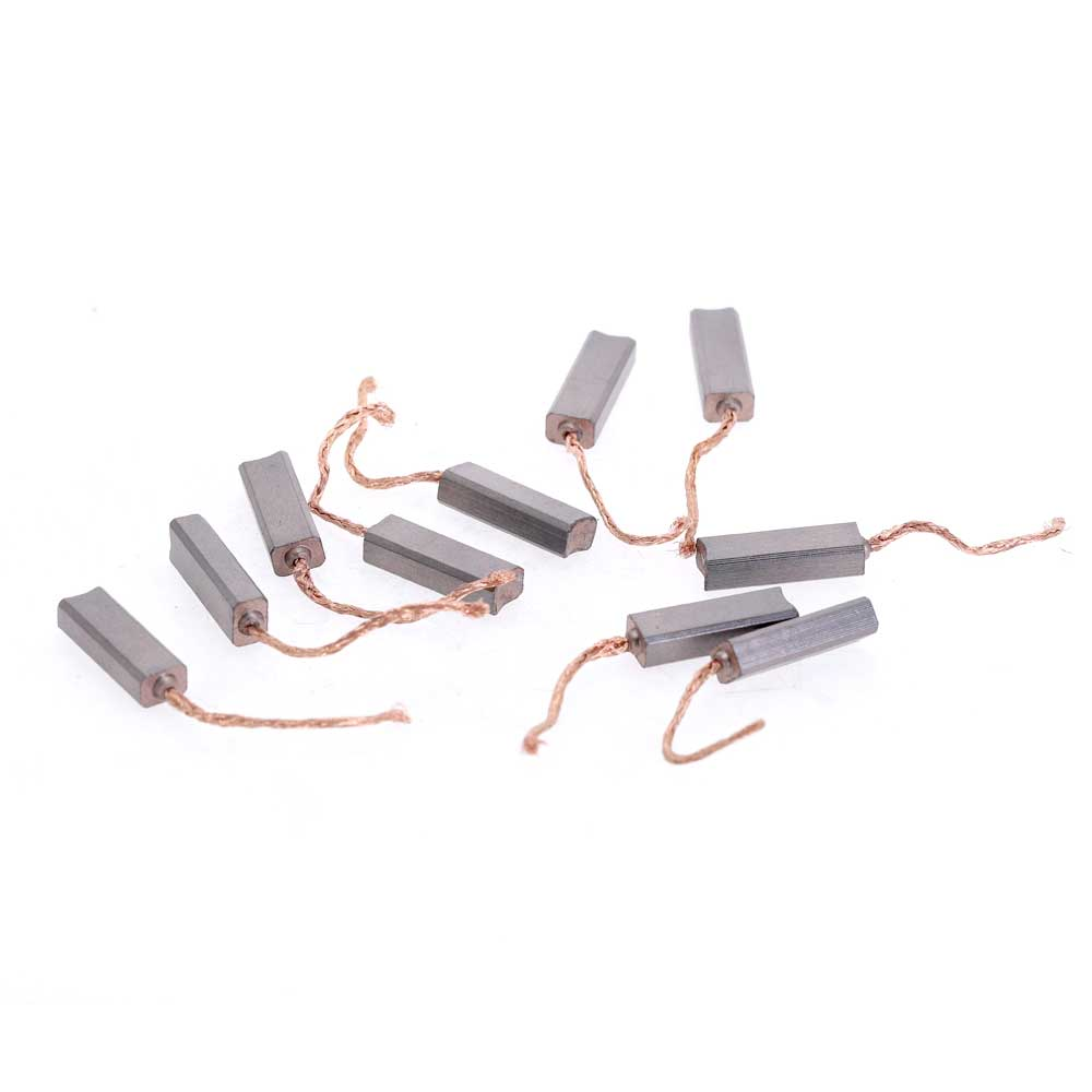 10Pcs Carbon Brushes Wire Leads Generator 4.5 X 6.5 X 20mm Generic Electric Motor Brush Replacement Carbon Brushes
