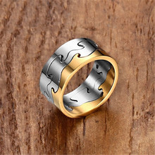 NHGBFT Classic two shades wedding Rings for mens stainless steel black gold color men ring Dropshipping tailor made luxury western rose gold color inlay health surgical stainless steel wedding bands rings sets