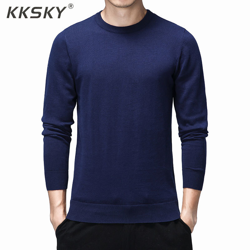 Fashion Men's Sweaters Breathable Slim Fit Men Pullover Homme Contrast Color Knitted Sweater Men 2019 Coats Brand Clothing