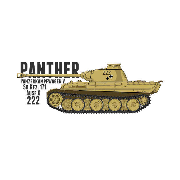 Panther Ausf.G 222 German Tank Men's T Shirt