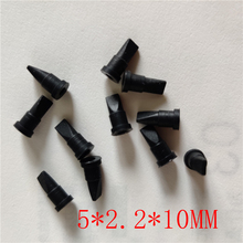 10PCS    Mini black silicone duckbill valve one-way check valve   5*2.2*10MM