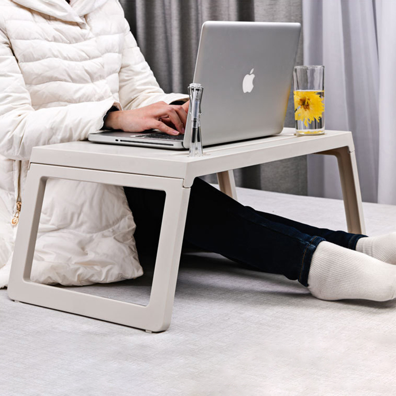 Folding Laptop Computer Table Adjustable Breakfast Table On The Bed Tray Picnic Table Plastic Study Table Home Office Furniture