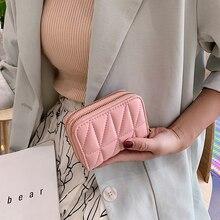 HOCODO Women Wallet Fashion Check Small Short Wallet Ladies