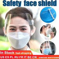 100 Pcs Transparent Protective Mask Face Shield Oil Splash Face Mouth Mask Particulate Respirator Hat Mask Saliva Transmission