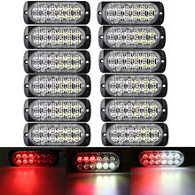 цена на 12pc 12LED Car Truck Emergency Beacon Warning Hazard Flash Strobe Light Bar 36W