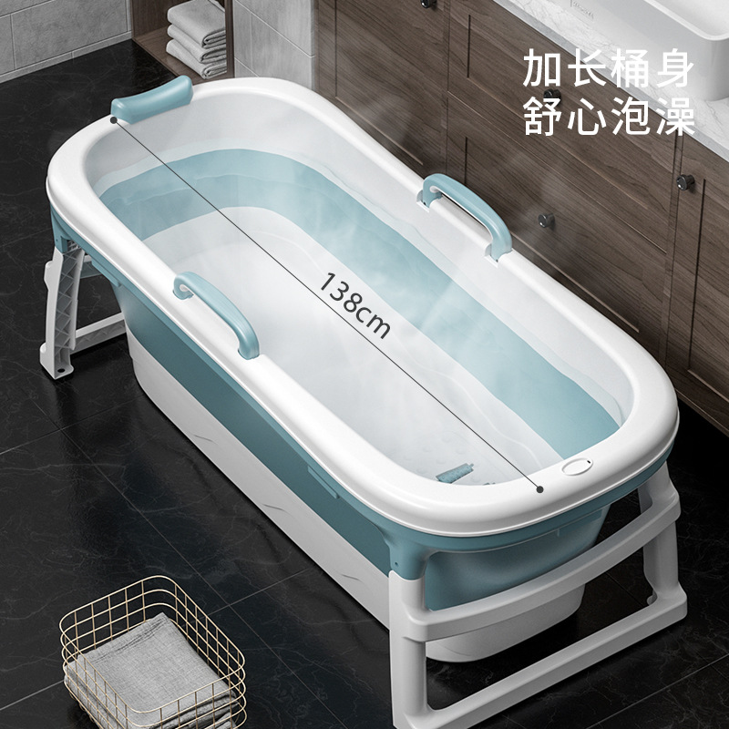 Children's Folding Tub Massage Adult Tub Steamed Bubble Dual Use Large Tub Baby Bathtub