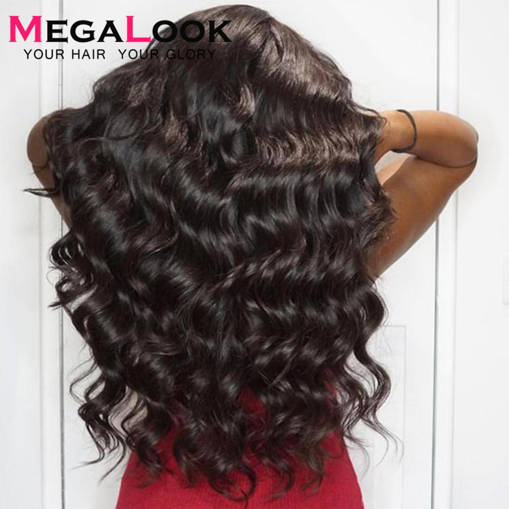 Loose Wave Wig Human Hair Lace Front Human Hair Wigs Preplucked Lace Wigs For Black Women 180 Remy 13x4 Peruvian Wig