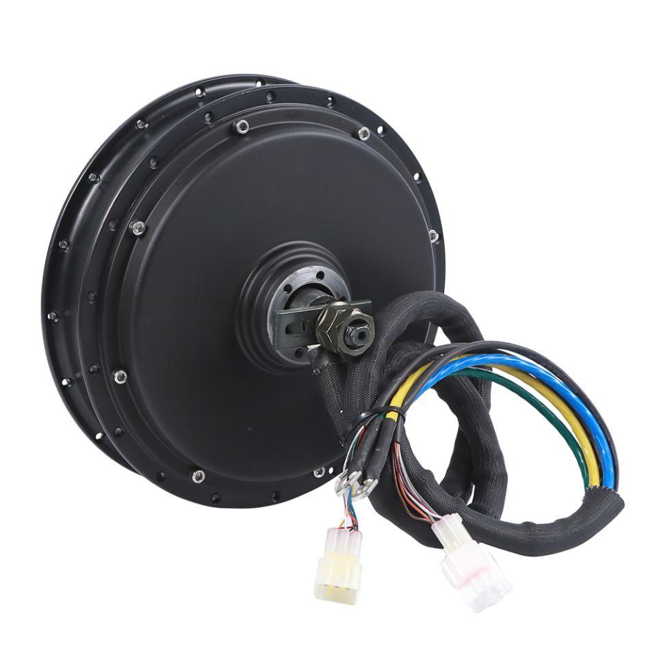 V3 5000 W Motor en yüksek tork elektrikli bisiklet hub motor 10kw tepe güç 24X5 T sargı 50 H mıknatıs