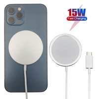 Wlmlbu 15ワット磁気ワイヤレス充電器12プロマックス12proチー急速充電器iphone 12ミニusb c pdアダプタmagsafing
