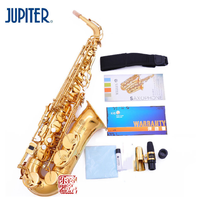 JUPITER JAS 769 New Arrival Alto Eb Tune Saxophone Brass Musical Instrument Gold Lacquer Sax With Case Mouthpiece Free Shipping